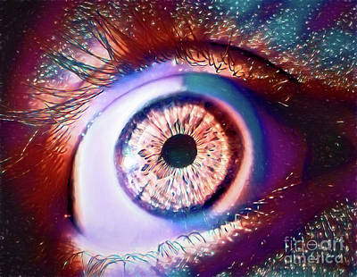 Photograph - Cosmic Eye - Left 13018 by Ray Shrewsberry