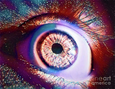 Photograph - Cosmic Eye - Right 13018 by Ray Shrewsberry