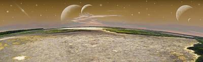 Soil Digital Art - Cosmic Fantasy - Pano by Brian Wallace