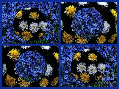 Photograph - Cosmic Florals 2 by Joan-Violet Stretch