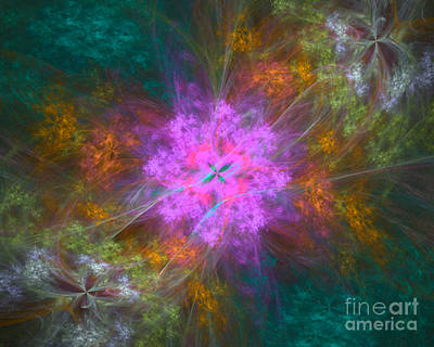 Science Fiction Royalty-Free and Rights-Managed Images - Cosmic Flower Garden by Raphael Terra