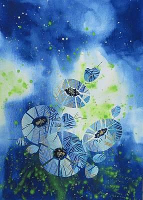 Cosmic Flowers Original by Louise Adams