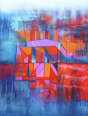 Cosmic Garage Art Print by J W Kelly