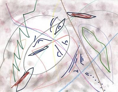 Abstract Drawing - Cosmic Gorilla by David Jacobi