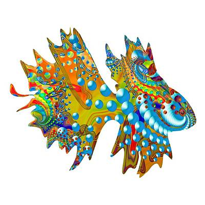 Digital Art - Cosmic Guppy by Deborah Runham