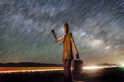Photograph - Cosmic Hitchhiker II by Cat Connor