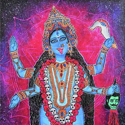 Cosmic Kali Maa - Hindu Goddess Art Print