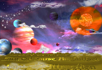 Cause And Effect Digital Art - Cosmic Laws by By ValxArt