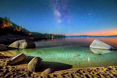 Sand Harbor Photograph - Cosmic Light by Steve Baranek