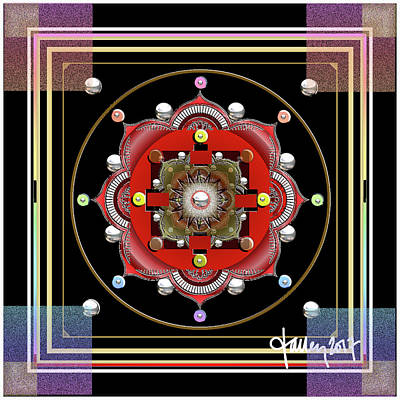 Mixed Media - Cosmic Lotus Mandala by Larry Talley