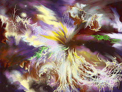 Art Print featuring the digital art The Flowering Of The Cosmos by Amyla Silverflame