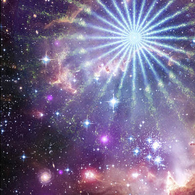 Digital Art - Cosmic Pinwheel by Mike Lopez