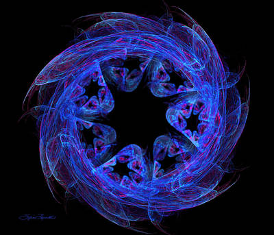 Digital Art - Cosmic Pinwheel by Sylvia Thornton