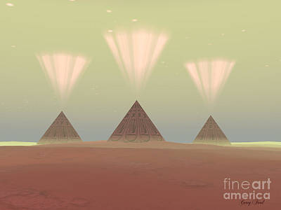 Egyptian Mummy Painting - Cosmic Pyramids by Corey Ford