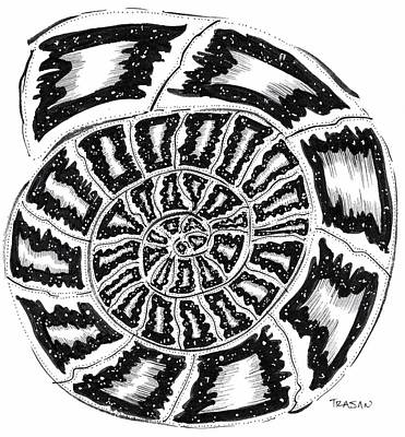 Cosmic Shell Art Print by Trajan