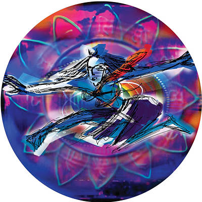 Painting - Cosmic Shiva Speed by Guruji Aruneshvar Paris Art Curator Katrin Suter