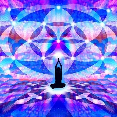 Digital Art - Cosmic Spiral 64 Painted by Derek Gedney