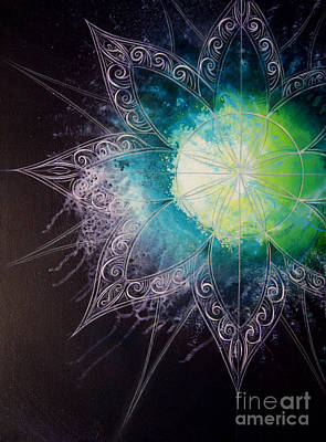 Atom Painting - Cosmic Starburst by Reina Cottier