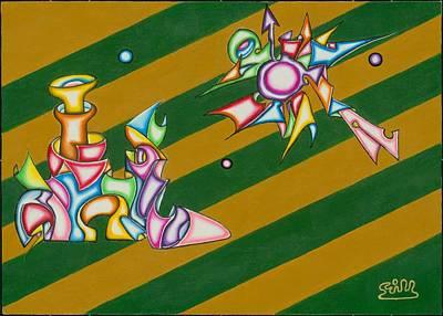 Cosmic Steamship Art Print by            Gillustrator