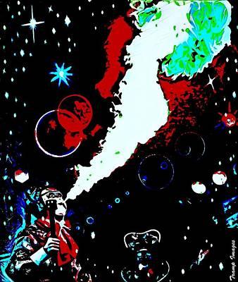 Digital Art - Cosmic Story by Wesley Nesbitt