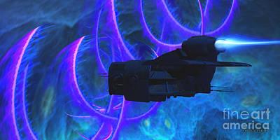 Jet Star Digital Art - Cosmic String by Corey Ford