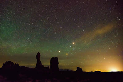 Photograph - Cosmic Sunrise - Arches National Park by Gregory Ballos