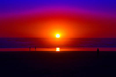 Photograph - Cosmic Sunset At Rockaway  by Ben Upham III
