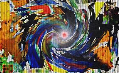 Door Locks And Handles - Cosmic Swirl Abstracticalia L B by Gert J Rheeders