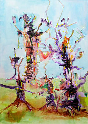 Cosmic Tree Family Art Print