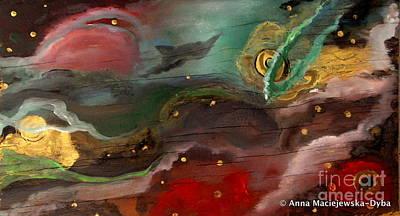 Folkartanna Painting - Cosmic Vision by Anna Folkartanna Maciejewska-Dyba