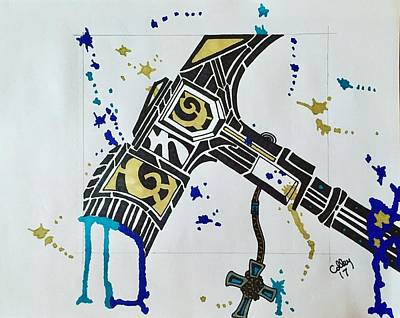 Drawing - Cosmic Warhammer by Jeremiah Colley