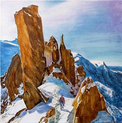 Chamonix Painting - Cosmiques by Danielle Arnal