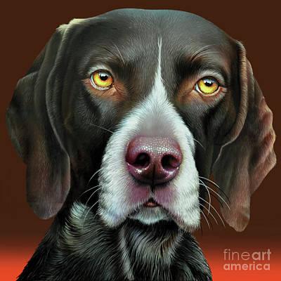 Portrait Of Dog Painting - Cosmo by Jurek Zamoyski