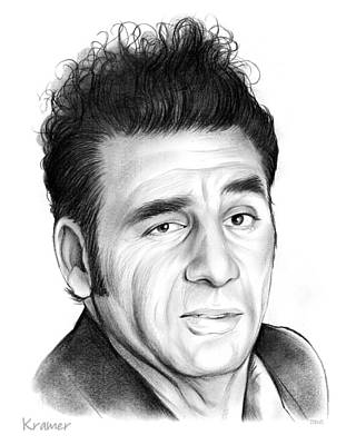 Cosmos Drawing - Cosmo Kramer by Greg Joens