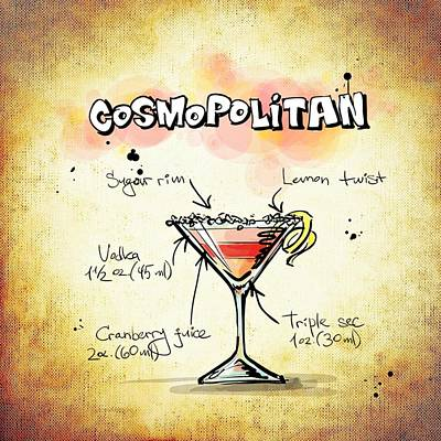 Gathering Mixed Media - Cosmopolitan by Movie Poster Prints