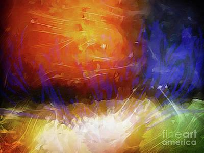 Creation Painting - Cosmos by Lutz Baar