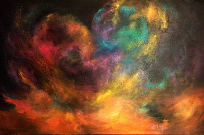 Cosmos Painting - Cosmos Mask by Sally Seago