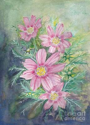 Cosmos - Painting Art Print by Veronica Rickard