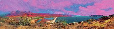 Painting - cosome bay Baja Mexico by Martin Hardy
