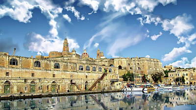 Photograph - Cospicua Waterfront by Anthony Dezenzio