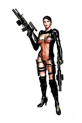 Science Fiction Royalty-Free and Rights-Managed Images - Cosplay Digital Art by MB by Mary Bassett