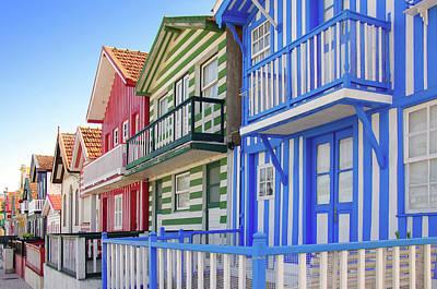Costa Nova Houses 4 Art Print by Carlos Caetano