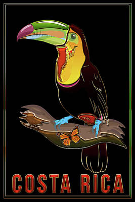 Digital Art - Costa Rica by Carlos Diaz