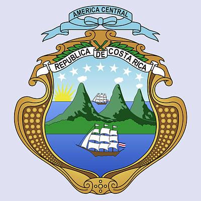 Costa Rica Coat Of Arms Art Print