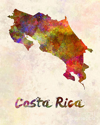 Rican Painting - Costa Rica In Watercolor by Pablo Romero