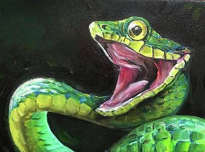 Painting - Costa Rican Viper by Ashley Martinez