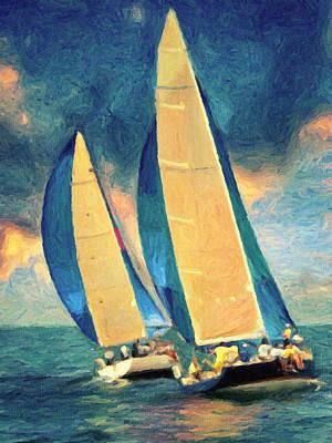 Painting - Costa Smeralda by Taylan Apukovska