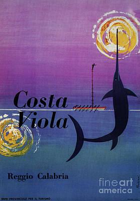 Swordfish Drawing - Costa Viola Reggio Calabria by Aapshop