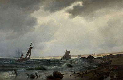 Painting - Costal Scene North Of Aarsdale by Holger Drachmann