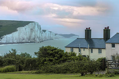 Costguard Cottages Seven Sisters - England Art Print